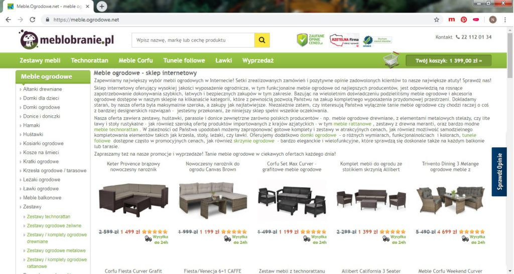 meble ogrodowe sklep online