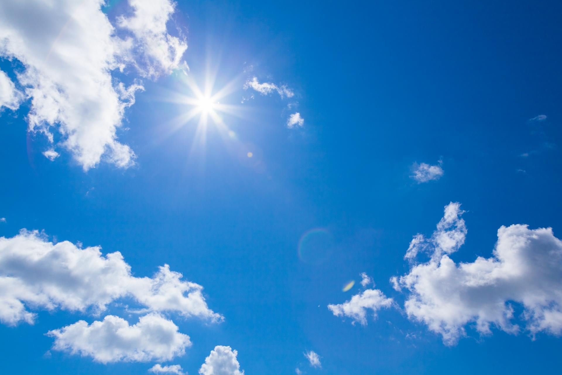 słońce promieniowanie UV niebo