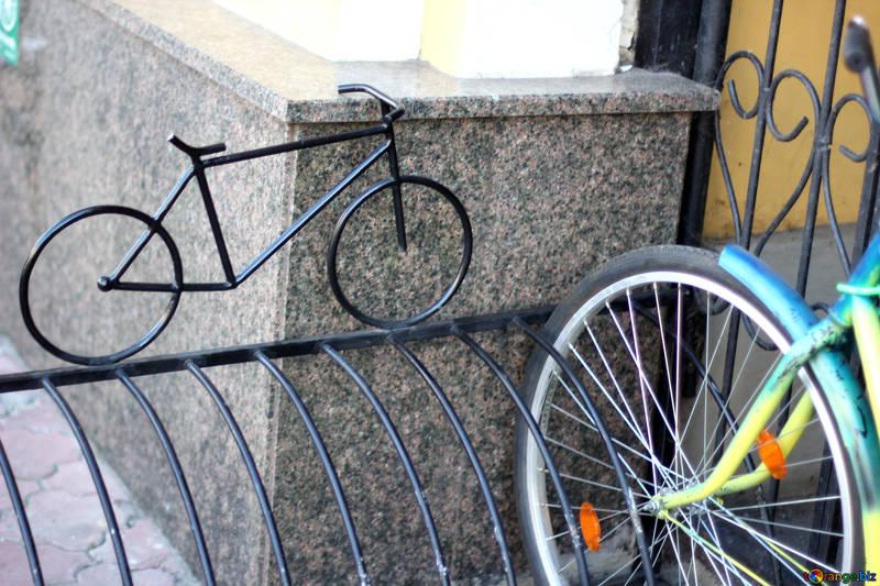stojak ozdobny na rowery