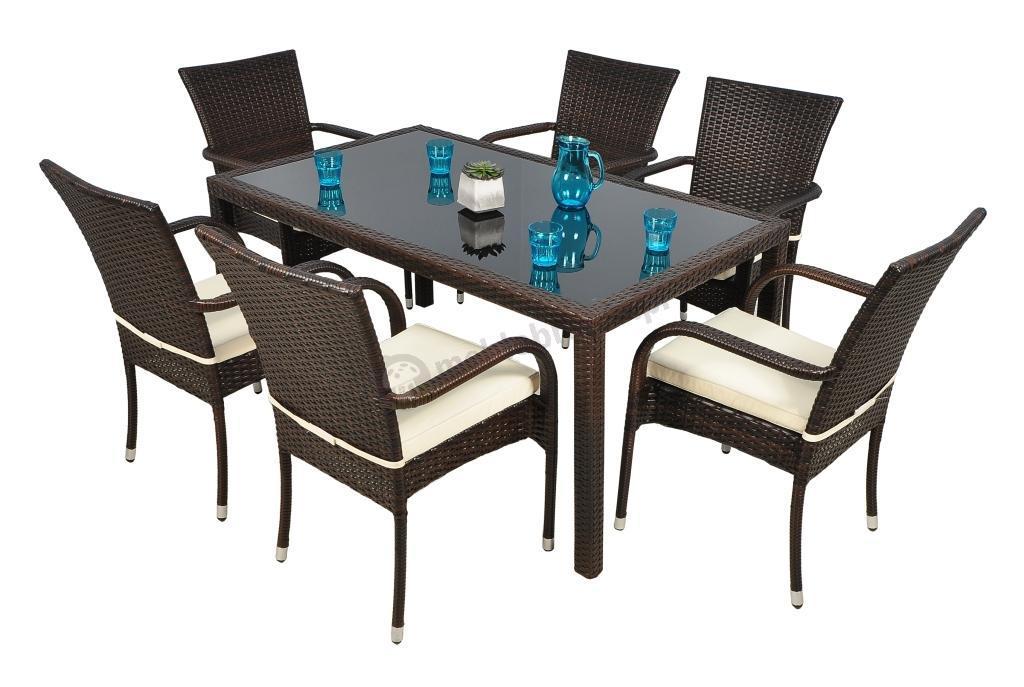 150×90 i 6 krzeseł Rimini  Meble ogrodowe  sklep internetowy
