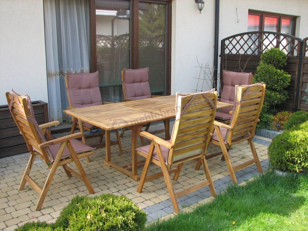 Sklep Nomi Meble Ogrodowe : Meble ogrodowe drewniane  stół rozkładany prostokątny 200cm