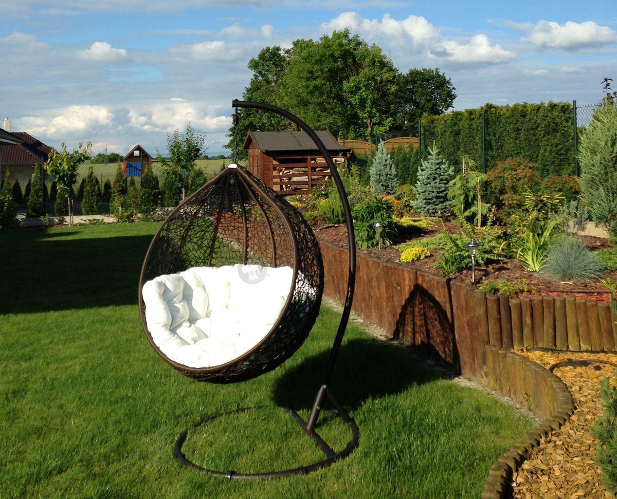 huśtawka cocoon br�zowobia�a huśtawki ogrodowe meble