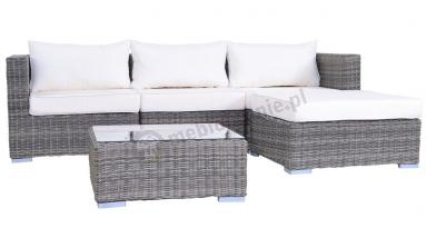 Meble technorattan  LIGURITO GREY Elite & White