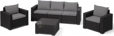 Allibert California 3 Seater Graphite Komplet mebli tarasowych