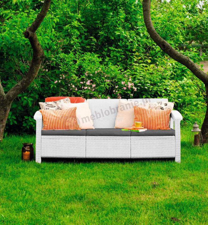 Curver Meble Ogrodowe Corfu Set Triple Max : Dokupiłam tą sofę do zestawu Corfu Set Curver Antracyt Mam 7 [R