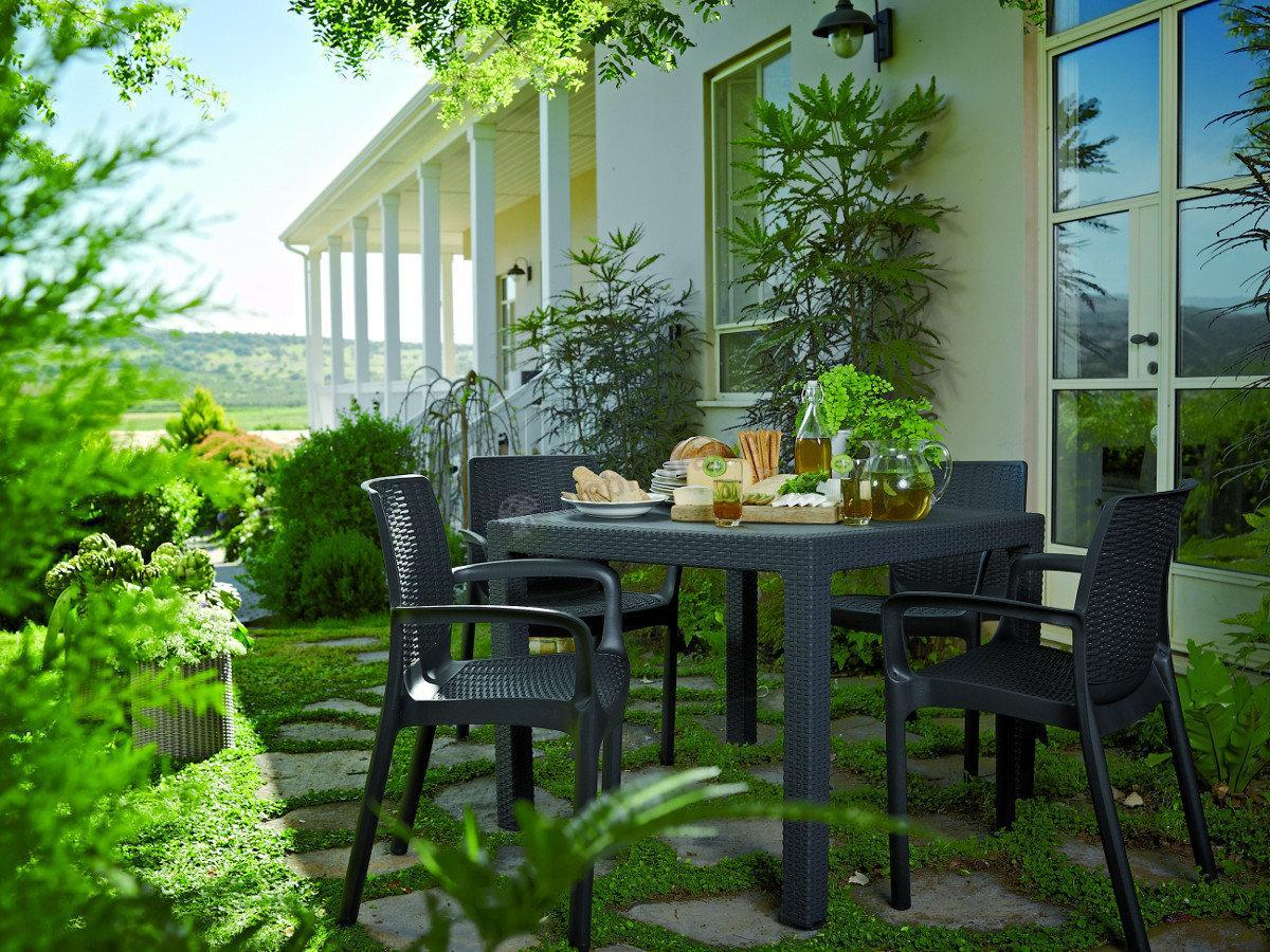 Meble Ogrodowe Corfu Fiesta Opinie : Melody Quartet Corfu stół ogrodowy kwadratowy  Meble Ogrodowe[R