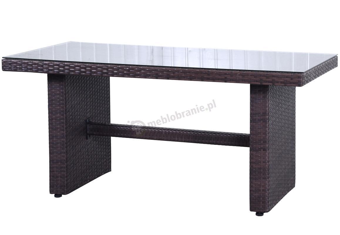 Stół obiadowy NILAMITO Brown o wysokości 65 cm i powierzchni blatu [R