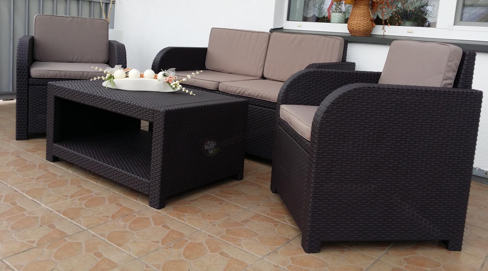 Meble Ogrodowe Zestaw Modena Lounge Set : Zestaw ogrodowy Modena Lounge Set  Meble Ogrodowe