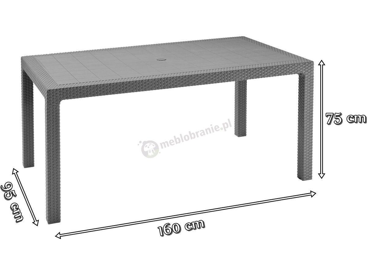 Stół Corfu Melody Do Ogrodu 160x95cm