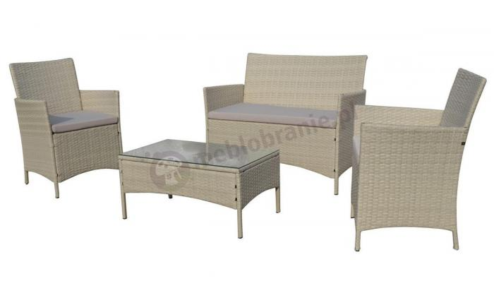 Meble z technorattanu Trimante Ash & Taupe