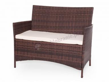 Sofa z zestawu TRIMANTE Brown & Ecru