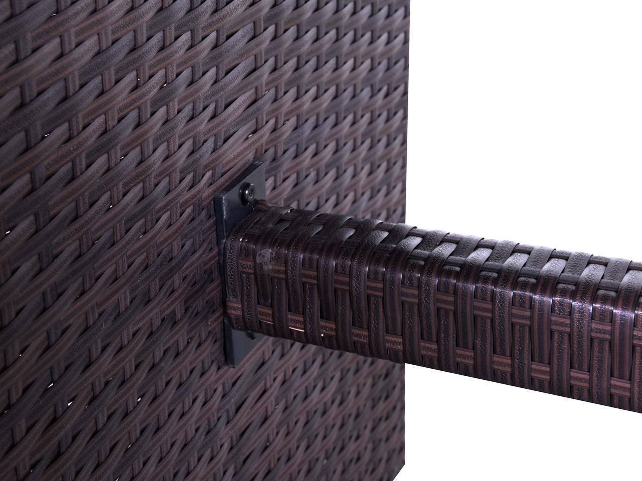 Meble Ogrodowe Obi Lodz : Stół do mebli wypoczynkowych z technorattanu NILAMITO 140×70 Brown