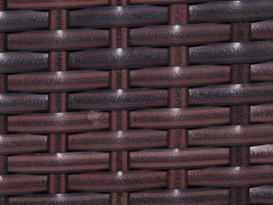 Stół z technorattanu NILAMITO 140x70 Brown