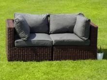 Ligurito sofa z technorattanu BROWN Elite & Grey