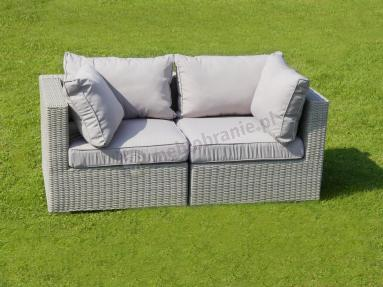 Ligurito sofa z technorattanu Off-WHITE Elite & Taupe