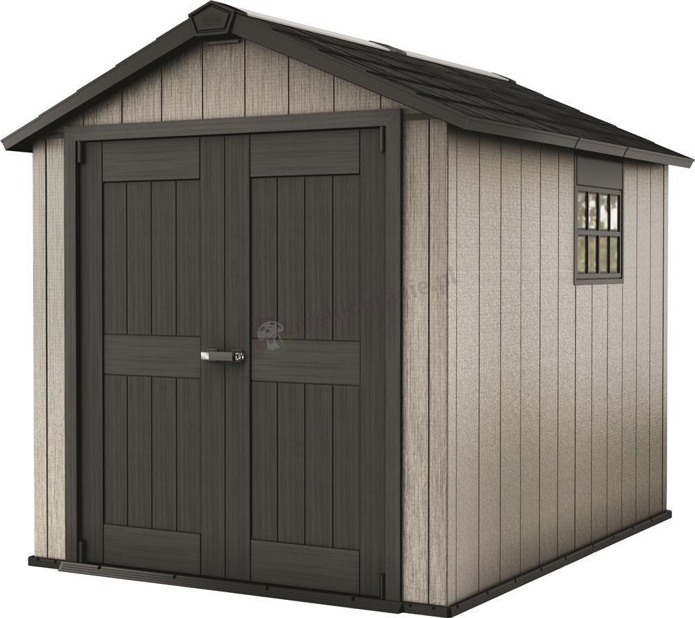 keter oakland 759 domek narz dziowy z tworzywa meble ogrodowe. Black Bedroom Furniture Sets. Home Design Ideas