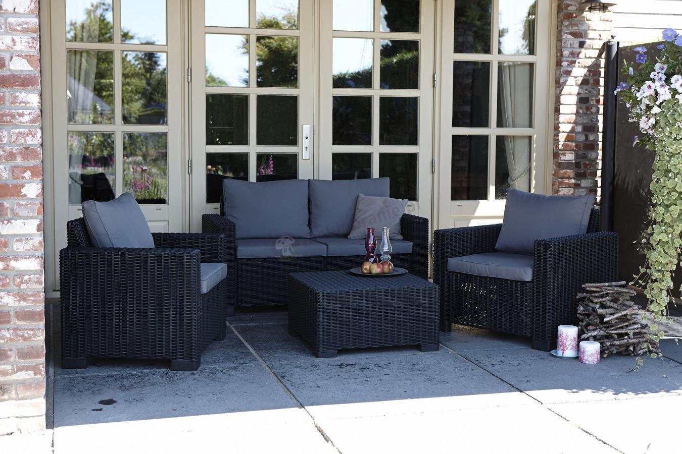 Allibert California lounge set 2seater Cappucino  Meble Ogrodowe