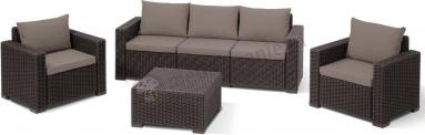 Allibert California 3 Seater Brown Komplet mebli tarasowych