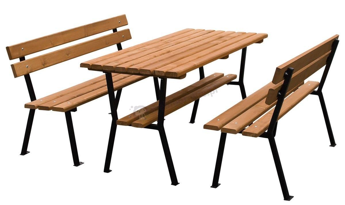 Meble Ogrodowe Drewniane Najtaniej : Meble ogrodowe stalowe drewniane Nelia 150cm  Meble ogrodowe  sklep