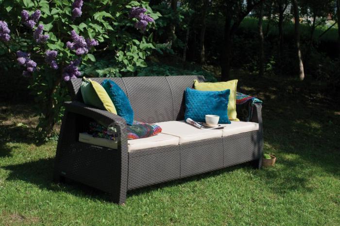Meble Ogrodowe Allibert California 3 Seater :  ogrodowa 3osobowa Corfu Love Seat Max Cappuccino  Meble Ogrodowe