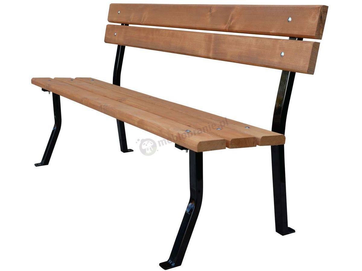 W Mega Nelia 150cm - Ławka drewniana stalowa - Meble Ogrodowe IE24