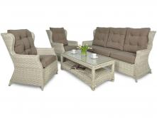 Trivento 3 Melange White (sofa 3-osobowa) meble technorattanowe