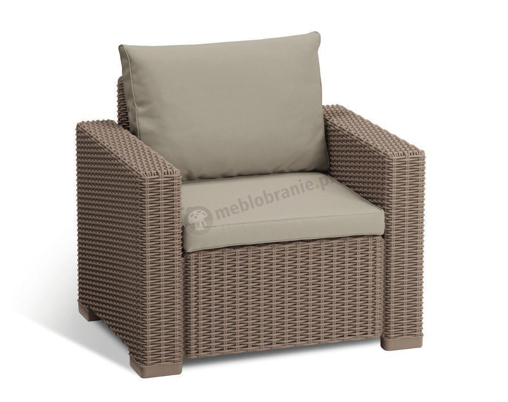 Meble Ogrodowe Allibert California 3 Seater : Allibert California lounge set 2seater Cappucino  Meble Ogrodowe