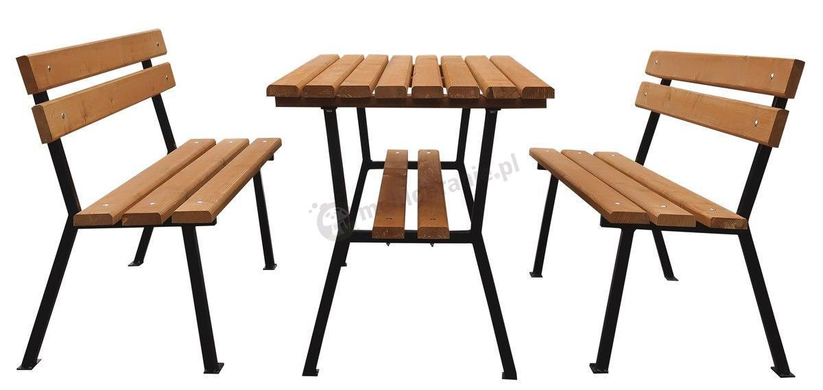 Meble Ogrodowe Piła Sklep Internetowy : Meble ogrodowe stalowe drewniane Nelia 150cm