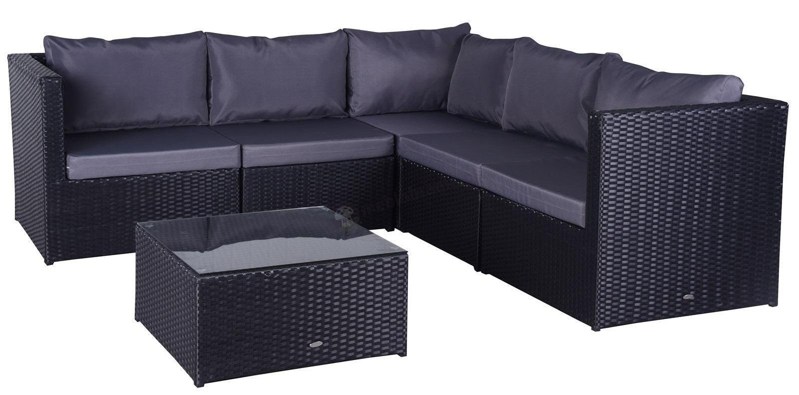 FARLITO CORNER Black Along & Ice Grey