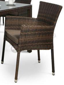 Lerida Modern Brown fotel technorattanowy