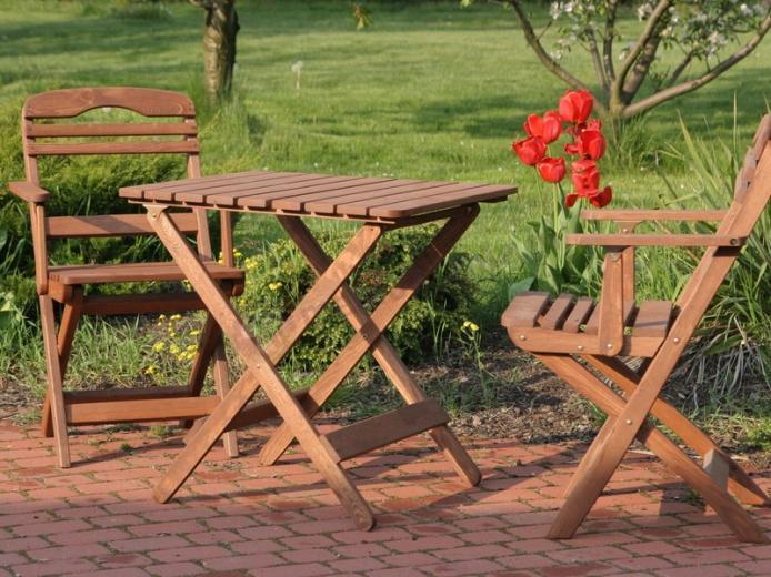 Zestaw balkonowy Warszawa Bis (stół + 2 krzesła z podłokietnikami)