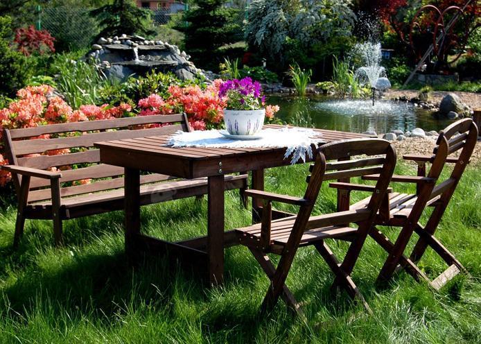 Zestaw ogrodowy Katowice (stół, ławka, 2 krzesła) - Meble ogrodowe - sklep internetowy
