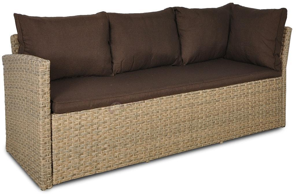 Caprice narożnik z technorattanu Caprice Light Brown - sofa