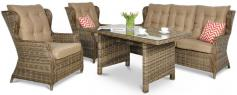 Ogrodowe meble z technorattanu Trivento Dining 3 Brown