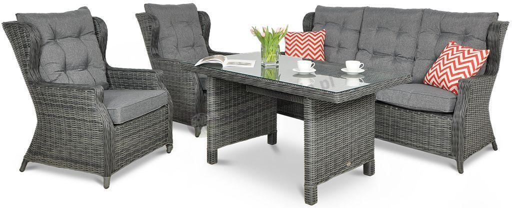 Meble technorattan Trivento Dining 3 Dark Grey