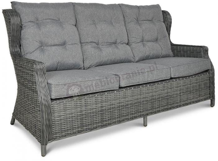 Meble technorattan Trivento Dining 3 Dark Grey - sofa