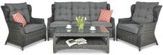 Trivento 3 Dark Grey (sofa 3-osobowa) meble z technorattanu