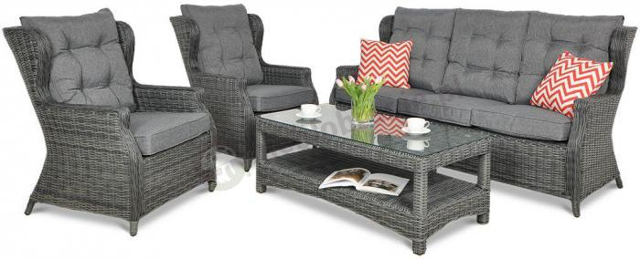 Trivento 3 Dark Grey (sofa 3-osobowa) meble technorattanowe