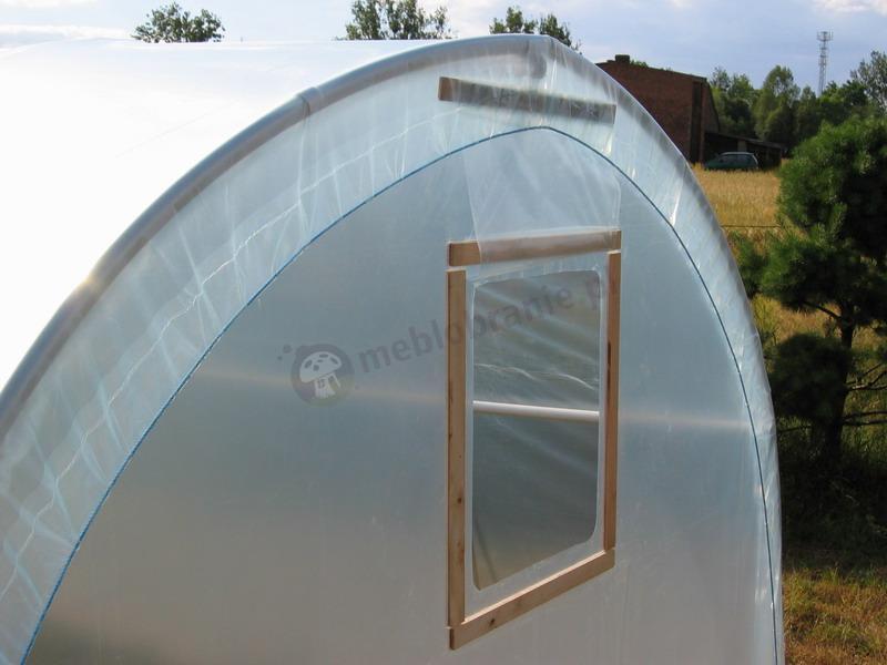 Tunel foliowy 4m PCV z okienkiem i drzwiczkami cena sklep internetowy