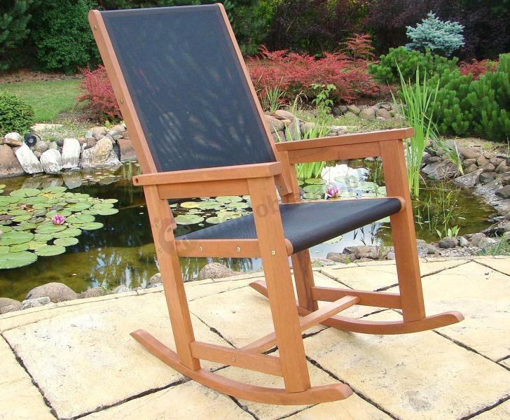 Krzesło Bujane Meranti Czarne  Krzesła i fotele  sklep internetowy
